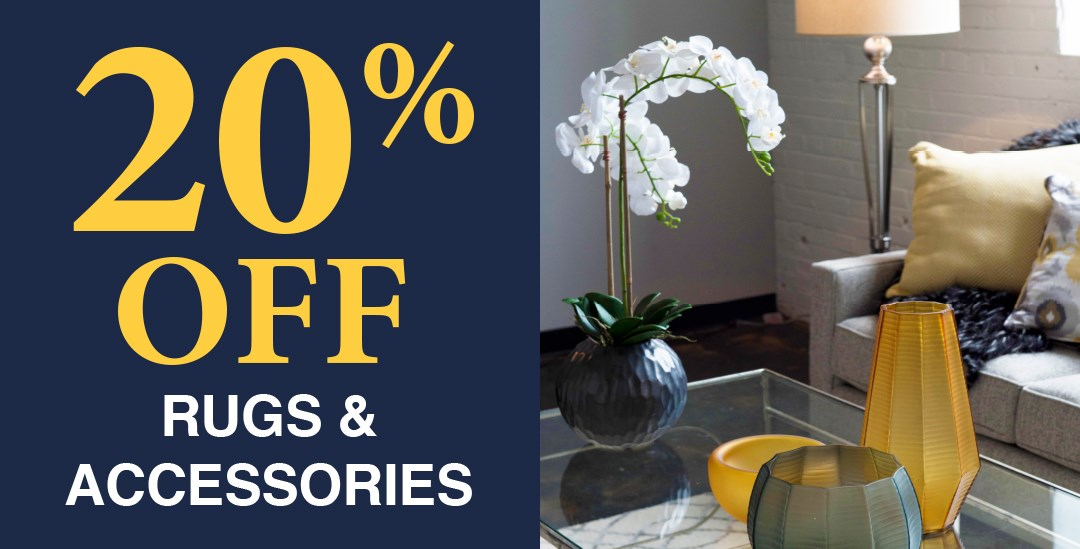 20% off rugs and accessories