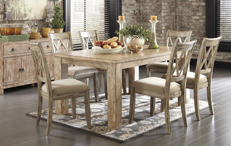 distressed dining set
