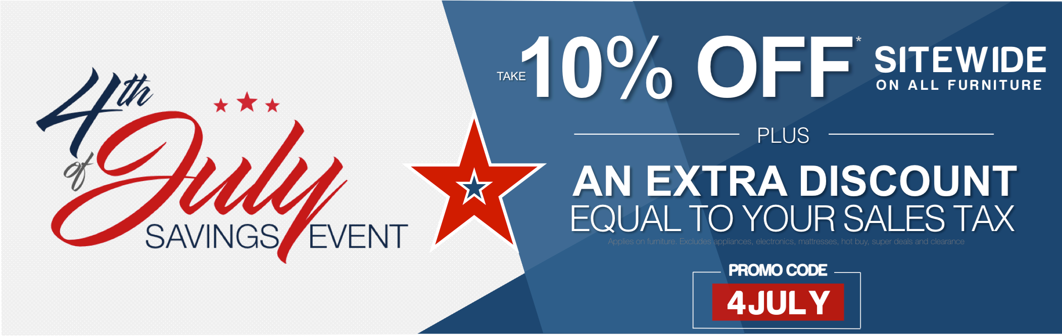 4th of July 10% off