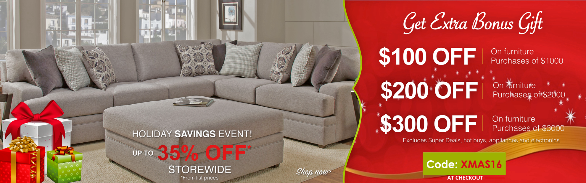 Holiday Sale at Del Sol Furniture