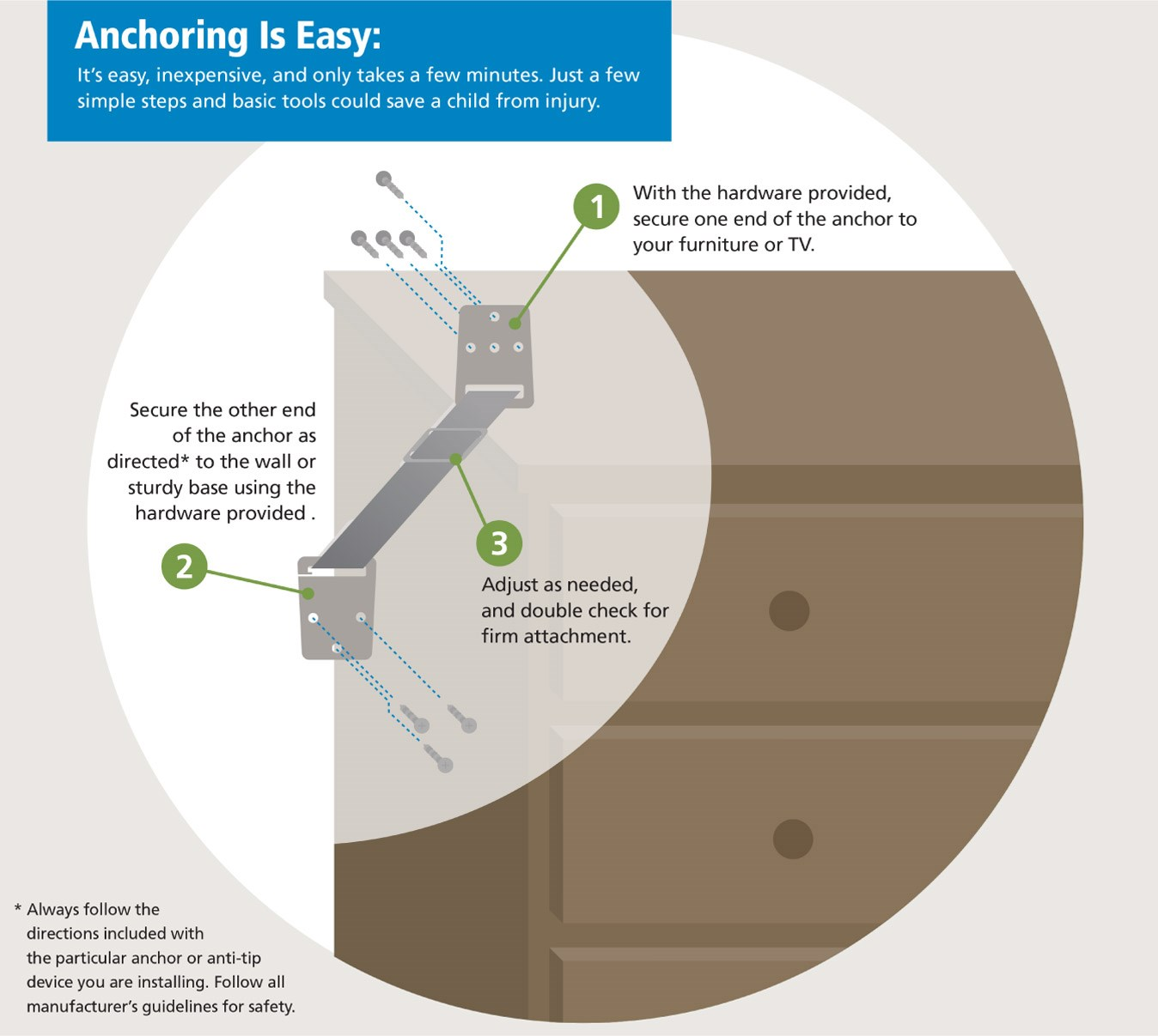 How to anchor your furniture