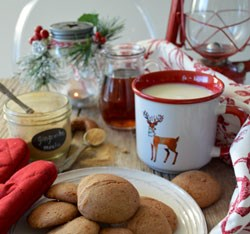 holiday spread with coffee