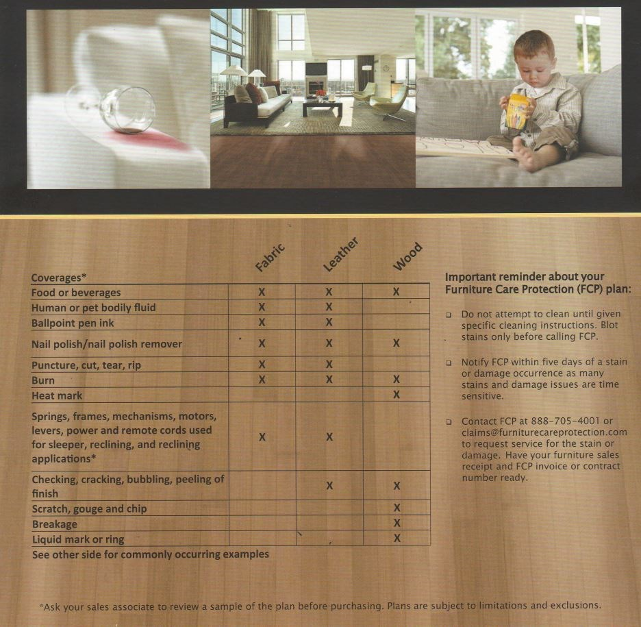 Furniture Care Protection PLan 1