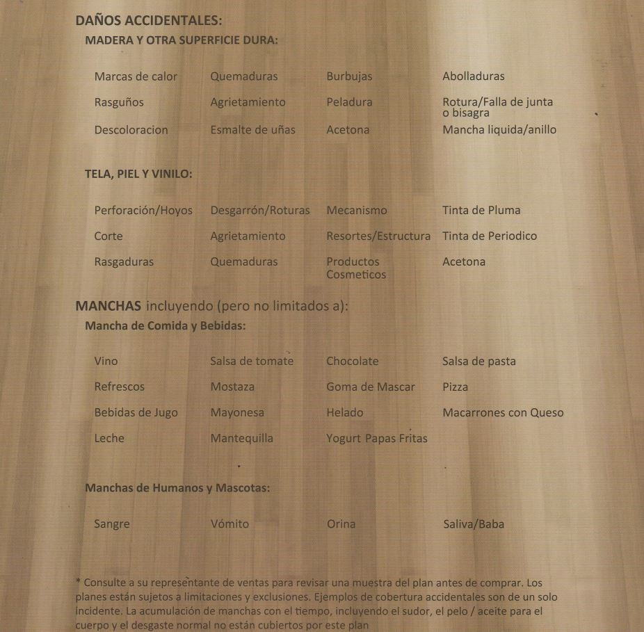 Furniture Care Protection PLan 2