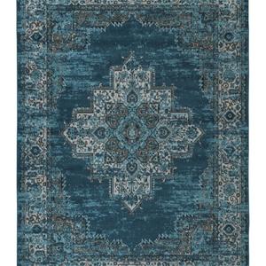 blue oriental pattern rug