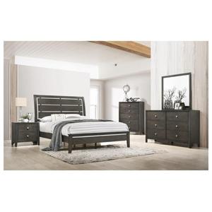 master bedroom with brown furniture set
