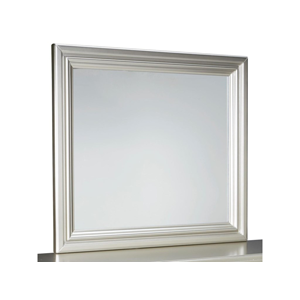 mirror with grey frame