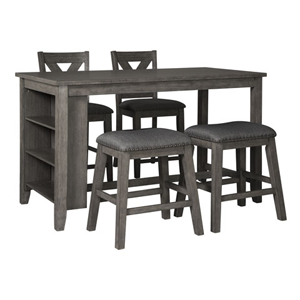 Dark grey dining room set