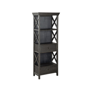 dark grey wooden bookcase