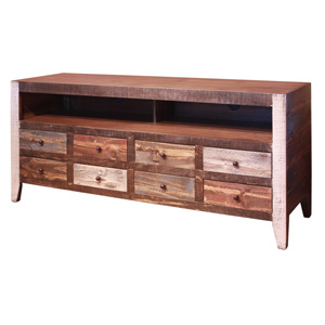 Light brown wooden entertainment system