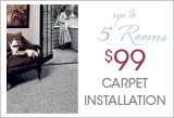 $99 Carpet Installation Up To 5 Rooms