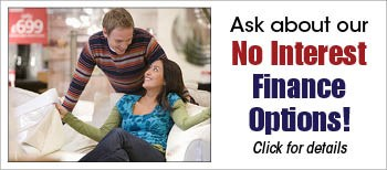 ask about our no interest finance offers