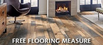 schedule a free on home measure for hardwood, LVT, carpet, ceramic, vinyl