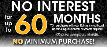 Get to 60 Months No Interest with No Minimum purchase!