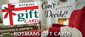 Rotmans Gift Cards available in any denomination