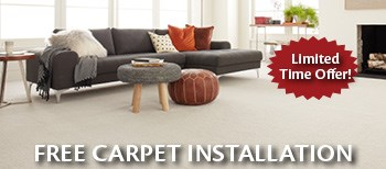 free carpet installation. Limited time offer!