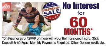 up to 60 months no interest