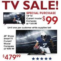 Presidents TV Sale!