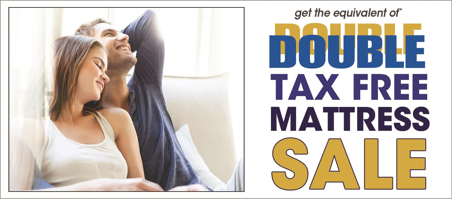double tax free bedding sale!