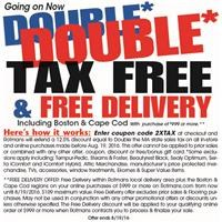 double tax free and free delivery details