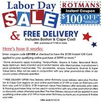 Online code for Labor Day Sale.
