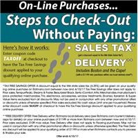 On-line purchase details