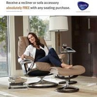 Receive a recliner or sofa accessory absolutely free with any seating purchase.