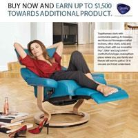 Buy now and earn up to $1500 towards additional product or save $500 on Signature Base and Legcomfort recliners.