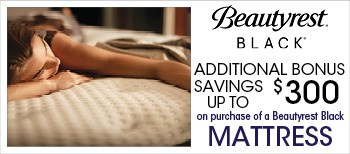Save an additional $300 of Beautyrest Black