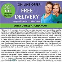 Exclusive on-line promotion - 50% Off compare at price and Free Delivery!