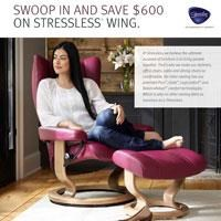Swoop in and Save #600 on Stressless Wing Chairs