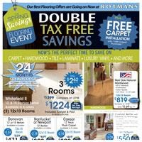 Double Tax Free Flooring Sale with Free Carpet Installation!