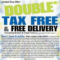 Double Tax Free Savings and Free Delivery.