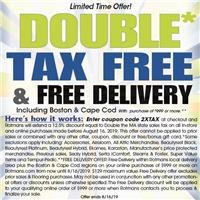 Rotmans is offering a discount equal to twice the Ma state sales tax and Free Delivery with minumum purchase.