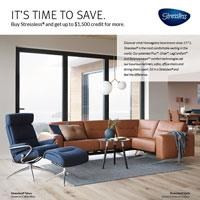 Buy Stressless® and get up to $1,500 credit for more.