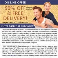 exclusive on line savings offer. Save 50% off compare at price and get free delivery with minimum purchase.