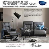 Free Leather upgrade on stressless seating!