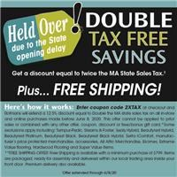 Double Tax free savings Held Over until June 8th, 2020 due to the State delayed opening.