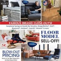 Famous Brand Floor Model and Close-Out Sale!