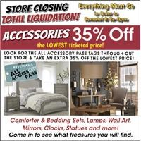 Take an Extra 35% Off Accessories with the all accessory pass tag.