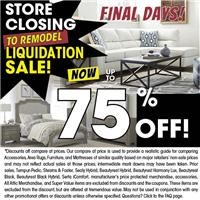 final days save up to 75% Off! some exclusions apply