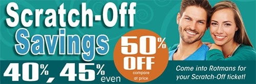 Scratch Off Savings In-Store Promo