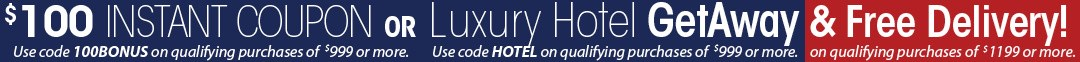 Labor day Sale with $100 Coupon or Luxury Hotel Getaway & free delivery