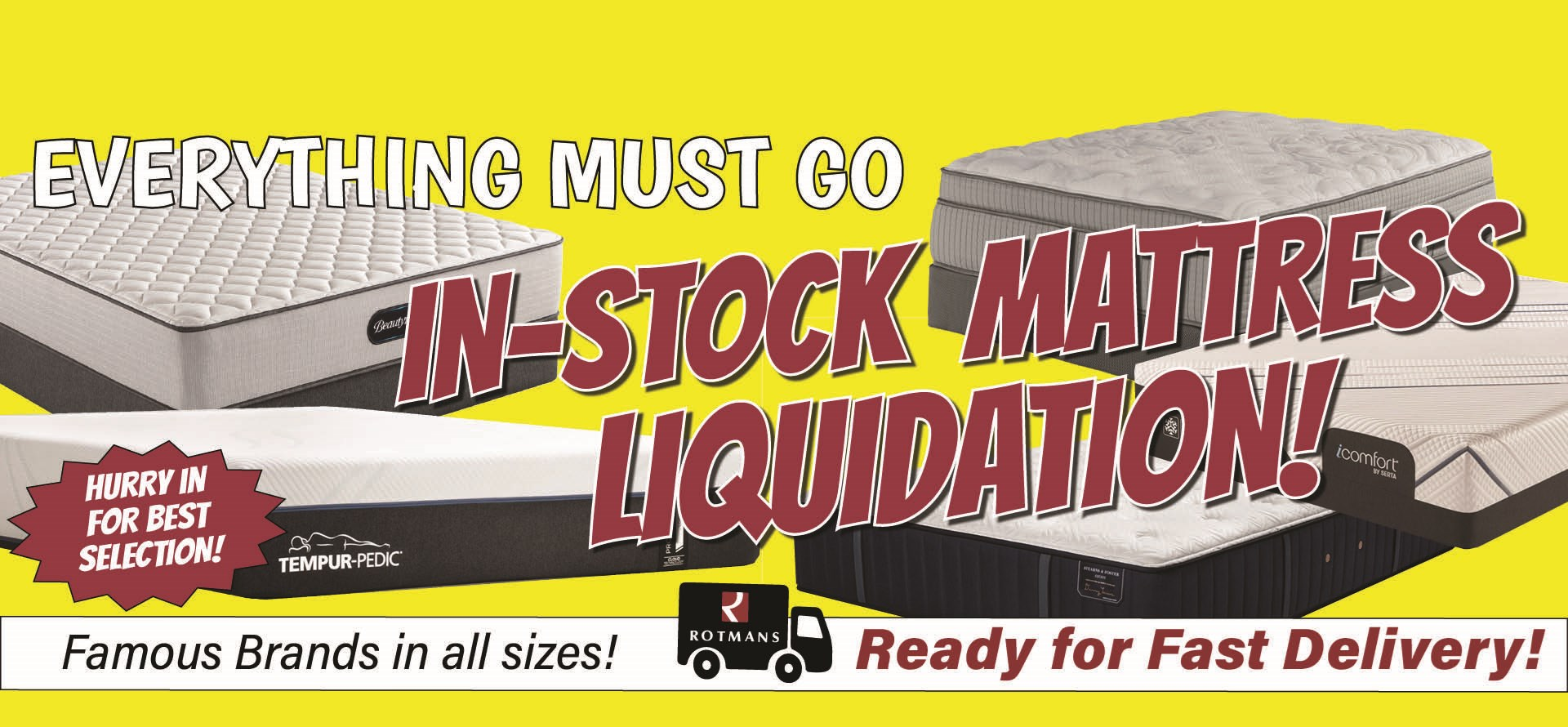 Shop In-stock Mattresses! Ready for fast delivery