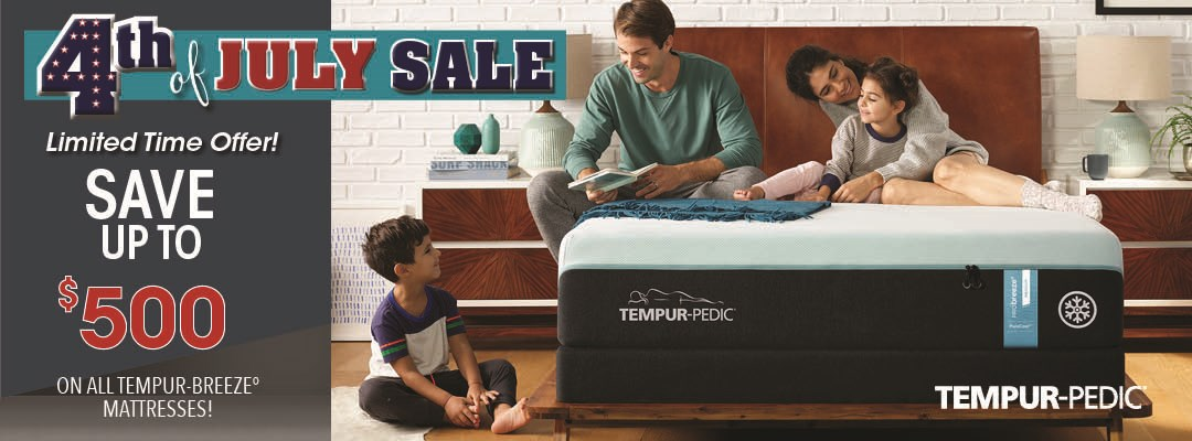 July 4th Save Up To $500 On Tempurpedic