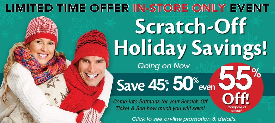 Instore scratch off savings event