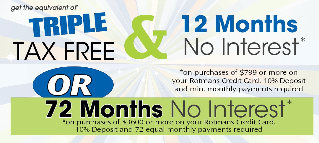 triple tax free or 72 months no interest