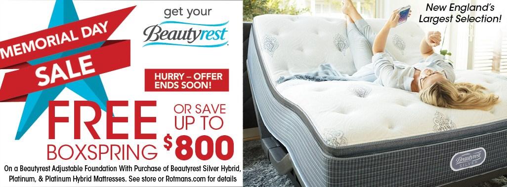 Beautyrest Memorial Day Offers