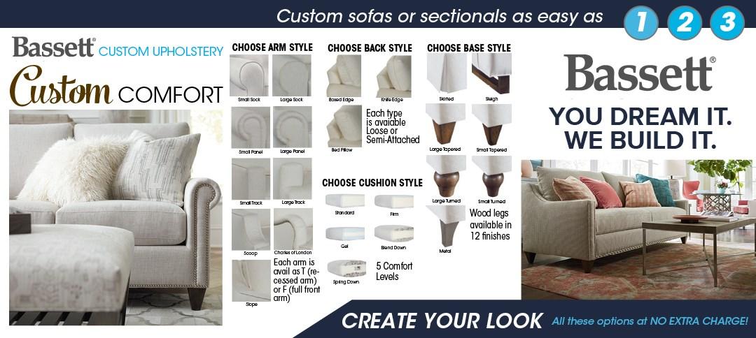 Bassett Custom Upholstery Options