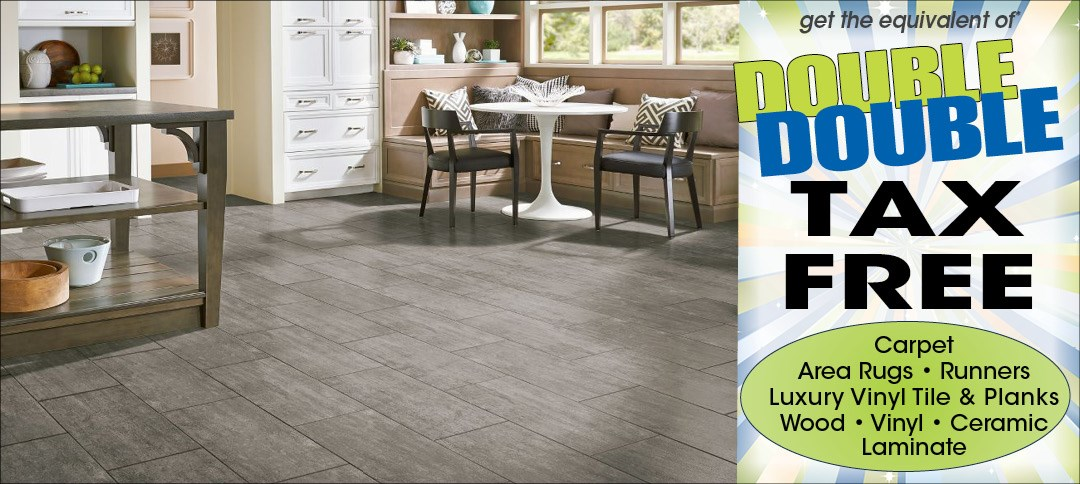 double tax free on flooring